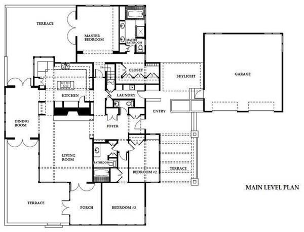 plano de casa de campo moderna de metros cuadrados