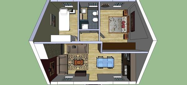 Casas Pequeas De Dos Pisos En 3d Casas Pequeas De Dos Pisos En 3d - Planos-de-casas-de-una-planta-pequeas