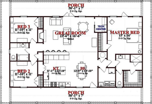 Plano de casa elevada de 167 metros cuadrados planos de for Casas modernas 120m2