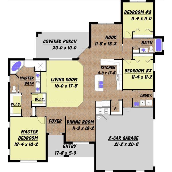 Casa grande de un piso tres dormitorios y 194 metros for Dormitorio 9 metros cuadrados