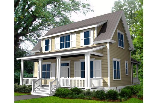 Casa de madera de dos plantas, tres dormitorios y 164 metros cuadrados