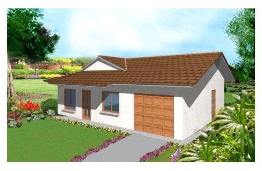 Pequeña casa de una planta, tres dormitorios y 90 metros cuadrados