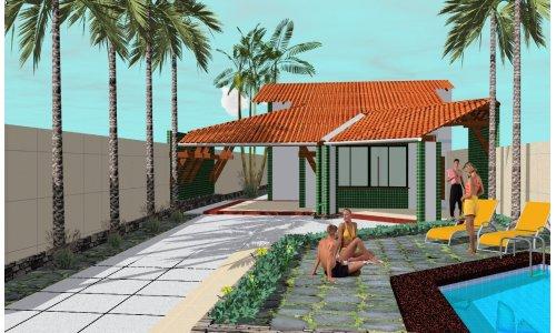 Casa con pileta de una planta tres dormitorios y 145 for Planos de piletas de natacion