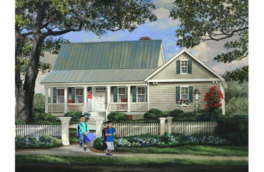 Sencilla casa de dos plantas, tres dormitorios y 164 metros cuadrados