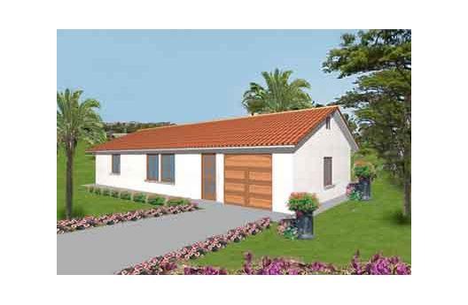 Pequeña casa de una planta, tres dormitorios y 93 metros cuadrados