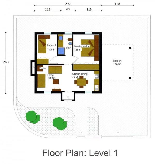 Casa peque a de 40 metros cuadrados pictures to pin on for Casa de 40 metros cuadrados