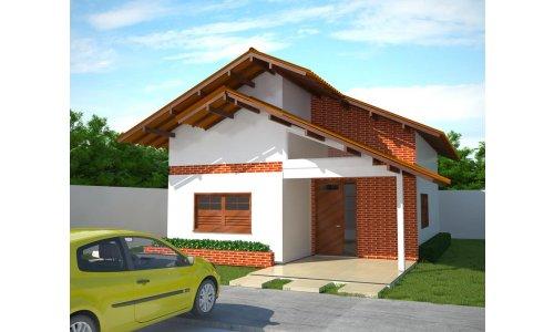 Pequeña casa de dos dormitorios y 73 metros cuadrados