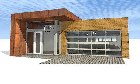 Casa moderna de una planta cuatro dormitorios y 244 for Casa moderna 50 metros cuadrados