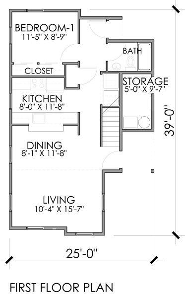 Baño Debajo De Escalera Plano:de dos plantas, tres dormitorios y 117 metros cuadrados – Planos de
