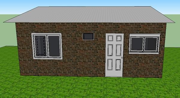 Diminuta casa de una planta un dormitorio y 20 metros for Casas sencillas y economicas