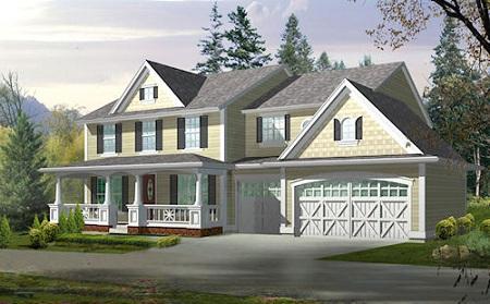 Gran casa de dos pisos cuatro dormitorios y 251 metros - Casas americanas de lujo ...