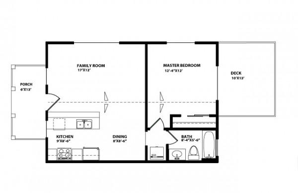Peque a casa de un piso un dormitorio y 59 metros for Piso 60 metros cuadrados