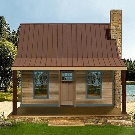 Casa de campo de dos dormitorios y 70 metros cuadrados