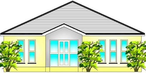Sencilla casa de una planta tres dormitorios y 137 metros for Casa de una planta sencilla