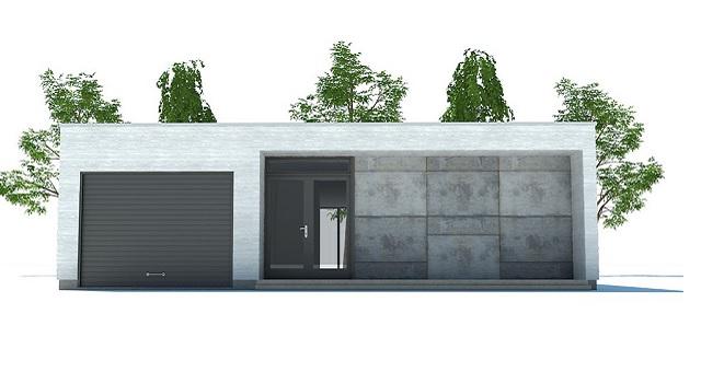 Casa de ciudad moderna de una planta tres dormitorios y for Planos casas modernas 1 planta