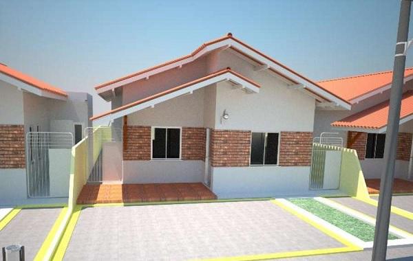 Casa econ mica de una planta tres dormitorios y 83 metros - Piso de 60 metros cuadrados ...
