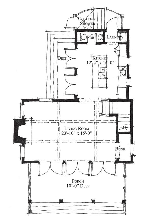 Plano de casa de campo de dos plantas un dormitorio y 96 metros cuadrado planos de casas - Planos casas planta baja ...
