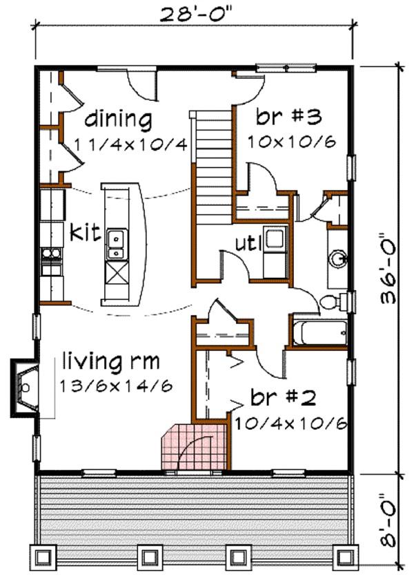 Plano de hermosa casa de dos plantas tres dormitorios y - Planos casas planta baja ...