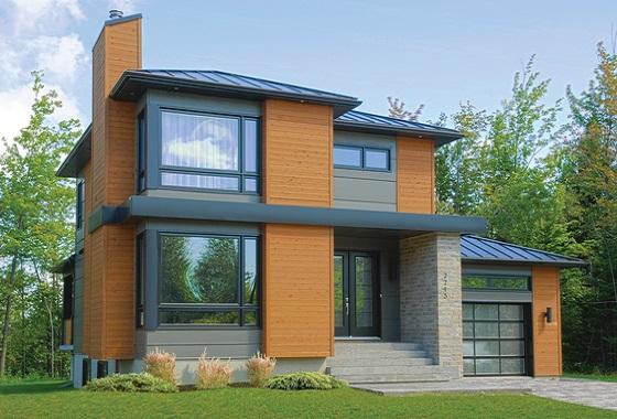 Moderna casa de dos pisos tres habitaciones y 172 metros for Casa moderna 2014 espositori