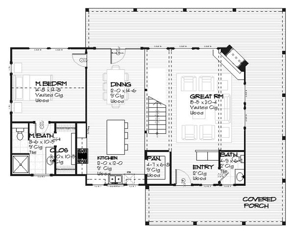 Plano de casa comoda de dos plantas tres dormitorios y for Planos de casas de dos plantas y tres dormitorios