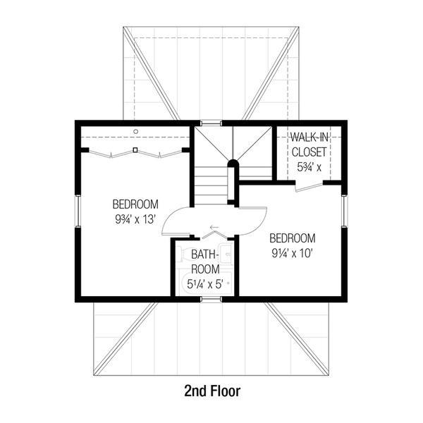 Plano planta alta casa de dos plantas y tres dormitorios for Planos de casas de dos plantas y tres dormitorios