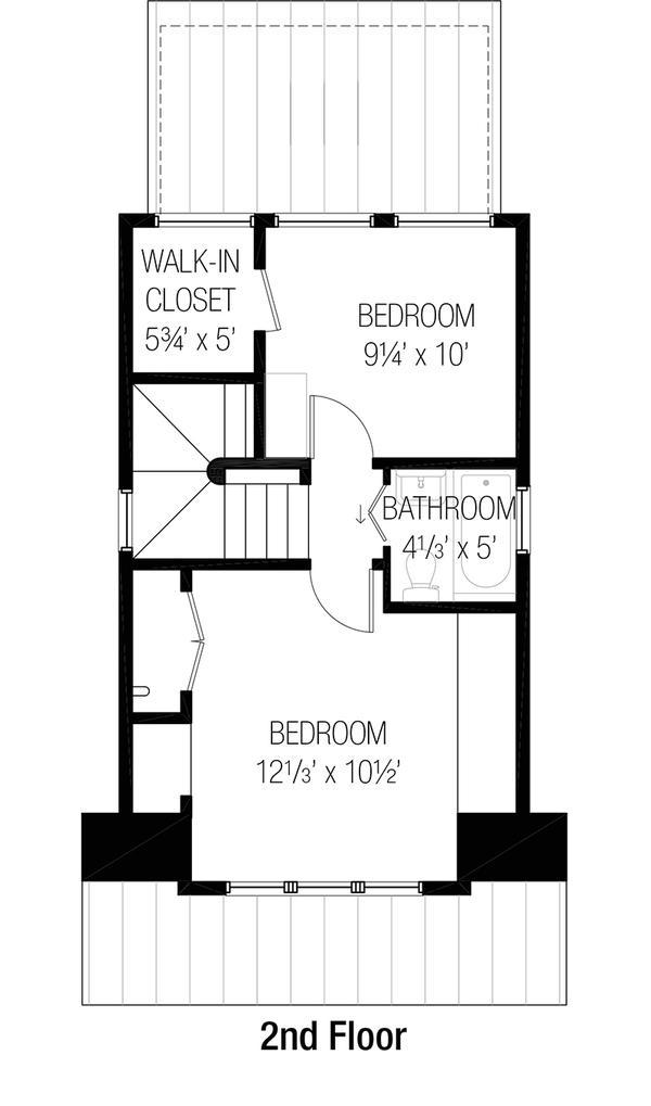 Plano planta alta casa angosta de dos plantas y tres for Planos de casas de dos plantas y tres dormitorios