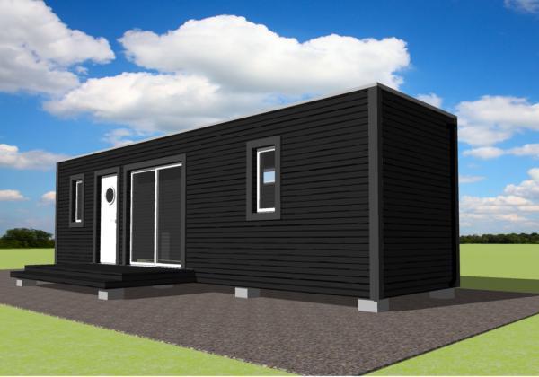 Peque A Y Comoda Casa Hecha Con Un Container Planos De