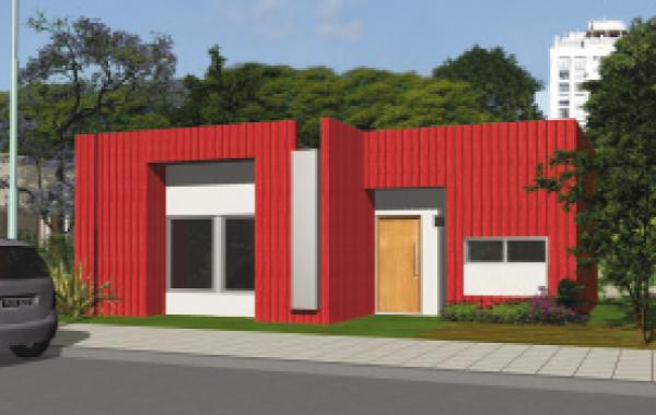Plano de casa procrear maderera de 3 dormitorios y 81 for Casa moderna 3 habitaciones