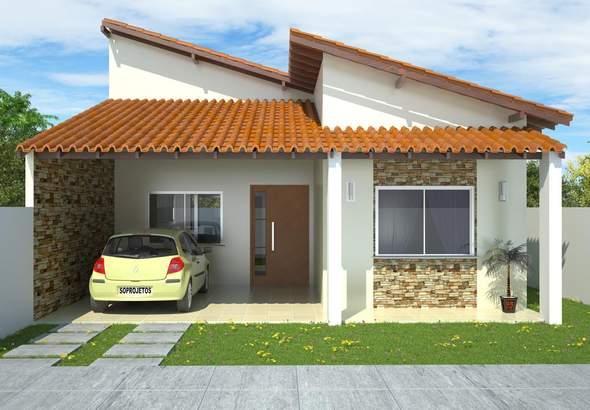 Plano de planta de casa de 3 dormitorios en 127 metros for Planos de casas de campo de 3 dormitorios
