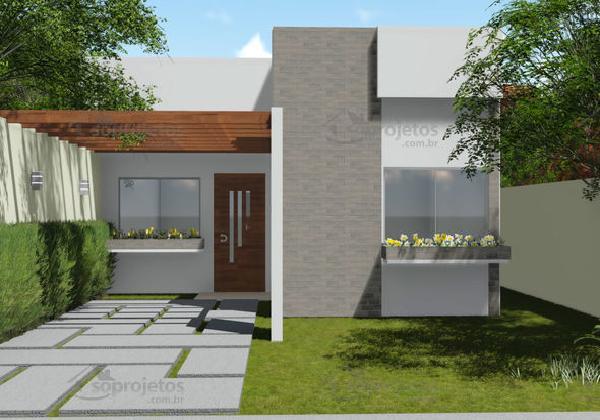 Casa moderna de dos dormitorios y 72 metros cuadrados for Fachadas modernas para casas pequenas de una planta