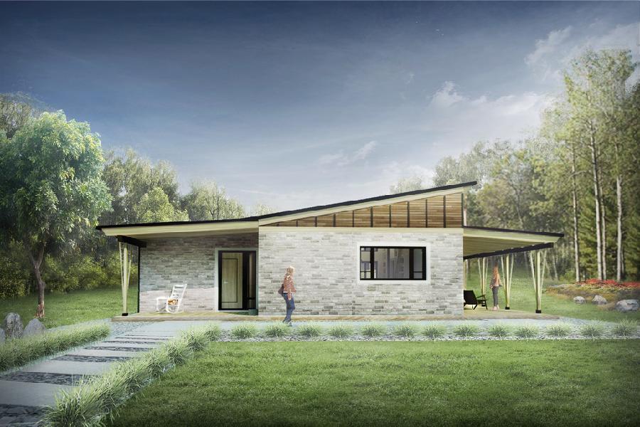 Caba a moderna de dos dormitorios y 78 metros cuadrados for Casa minimalista 80 metros