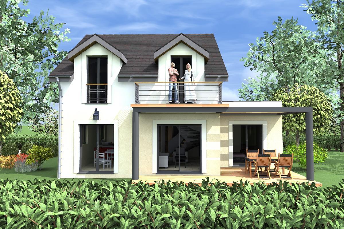 Casa de dos plantas 4 dormitorios y 109 metros cuadrados for Planos de casas medianas