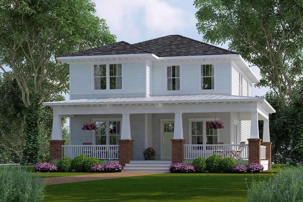 planos de casas de dos pisos tipo americano