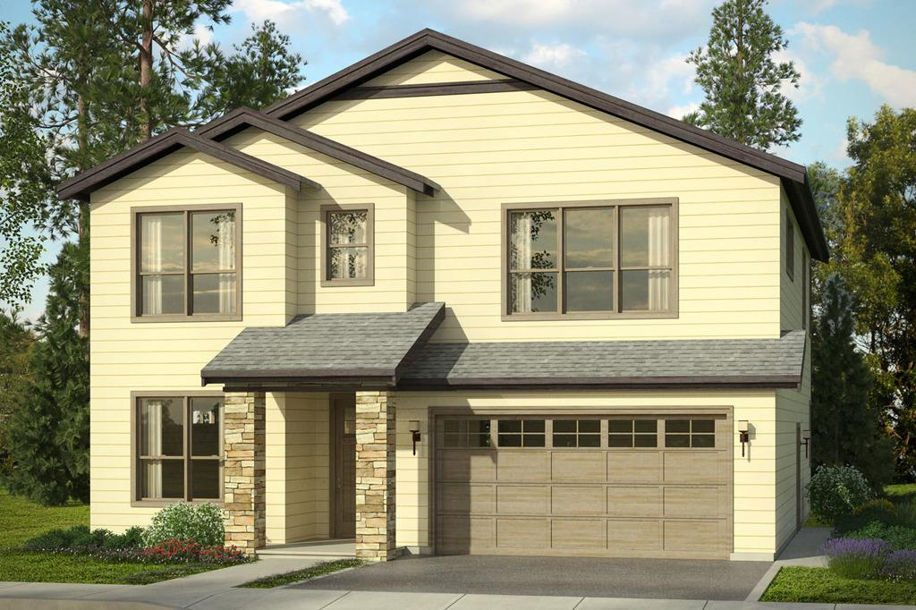 Plano de comoda casa de dos pisos cuatro dormitorios y for Pisos elegantes para casas